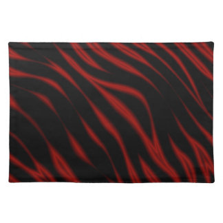 Dark and Hot Tiger Collection Placemat Cloth Place Mat