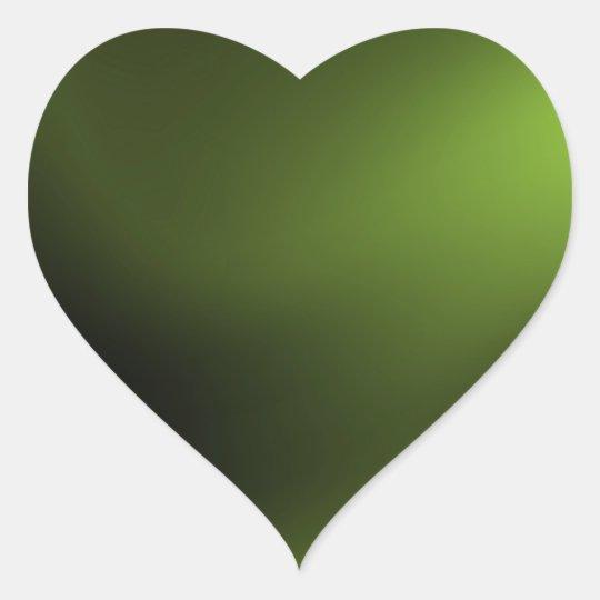 Dark and Intense Green Heart Sticker