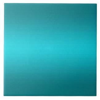 Dark and Light Aqua Blue Gradient - Turquoise Ceramic Tile