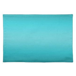 Dark and Light Aqua Blue Gradient - Turquoise Cloth Placemat