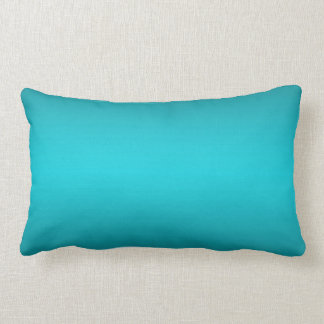 Dark and Light Aqua Blue Gradient - Turquoise Lumbar Pillow