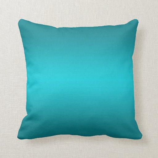Dark and Light Aqua Blue Gradient - Turquoise Pillow