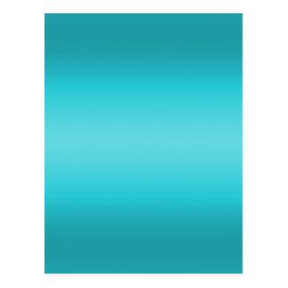 Dark and Light Aqua Blue Gradient - Turquoise Postcard
