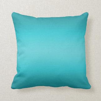 Dark and Light Aqua Blue Gradient - Turquoise Throw Pillow