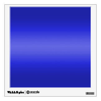 Dark and Light Blue Gradient - Template Blank Wall Decal