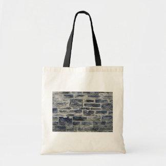 Dark and light brick wall budget tote bag