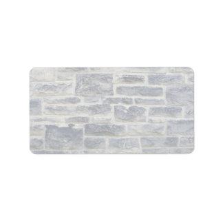 Dark and light brick wall address label