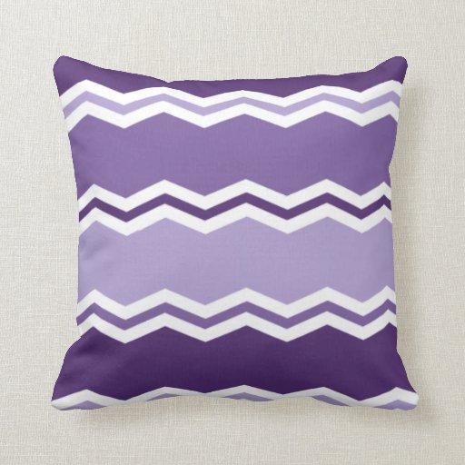 Purple Lavender Throw Pillows : Dark and Light Lavender Purple Chevron Stripes Throw Pillows Zazzle