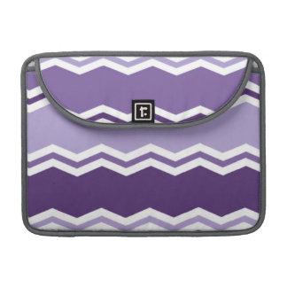 Dark and Light Lavender Purple Chevron Stripes Sleeve For MacBook Pro