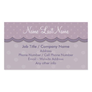 Dark and Light Purple Polka Dots Design Business Card Template