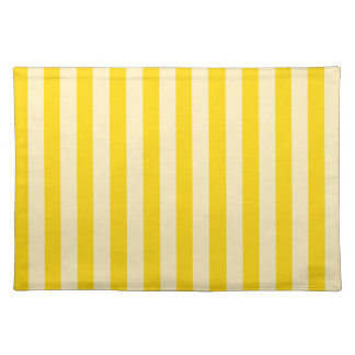 Dark and light yellow stripes on a placemat. placemat