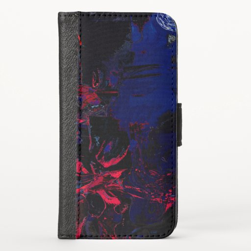 Dark and Moody - Abstract Painting iPhone X Wallet Case