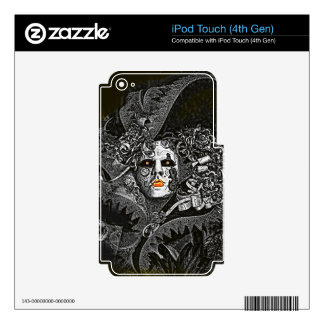 Dark and spooky Venetian mask Skin For iPod Touch 4G
