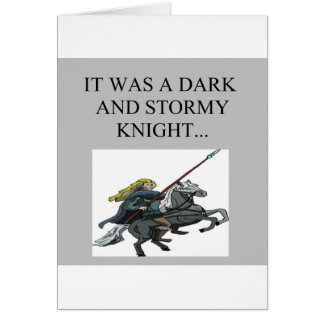 dark and stormy night cliche joke greeting cards