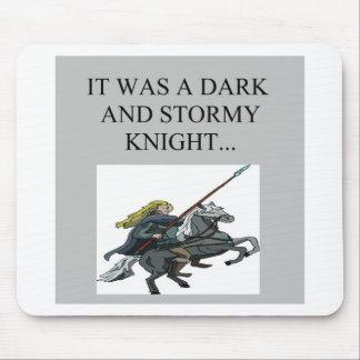 dark and stormy night cliche joke mouse mat