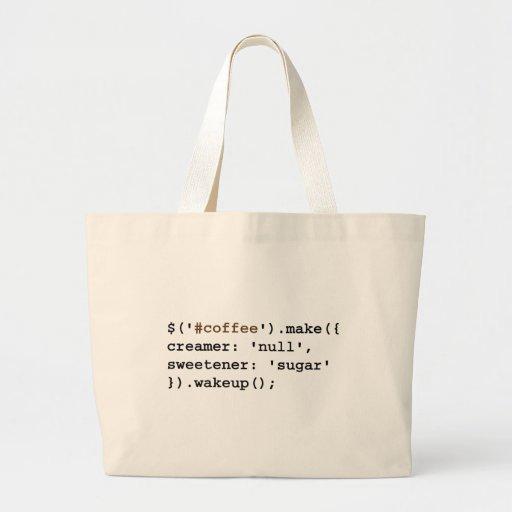 Dark and Sweet Javascript Bag