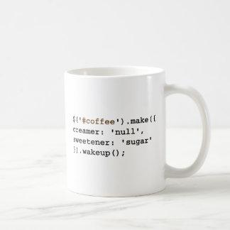 Dark and Sweet Javascript Classic White Coffee Mug