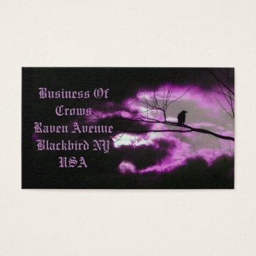 Professional Business Dark And Unique Crow Business Card