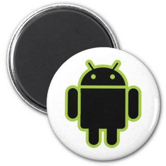 Dark Android 2 Inch Round Magnet