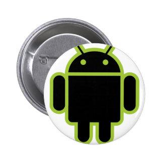 Dark Android Pinback Button