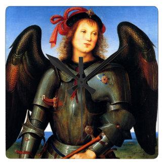 Dark Angel by Pietro Perugino Wall Clocks