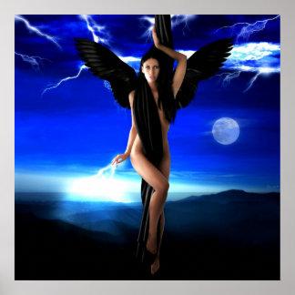 Dark angel,goddess divine, shaman woman, shakti poster