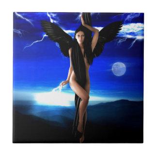 Dark angel,goddess divine, shaman woman, shakti tile