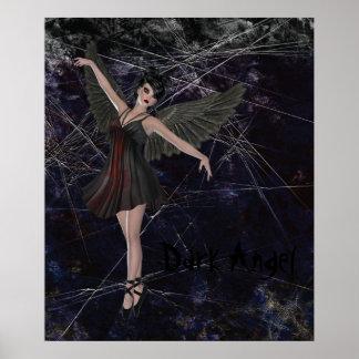 Dark Angel Gothic Grunge Poster