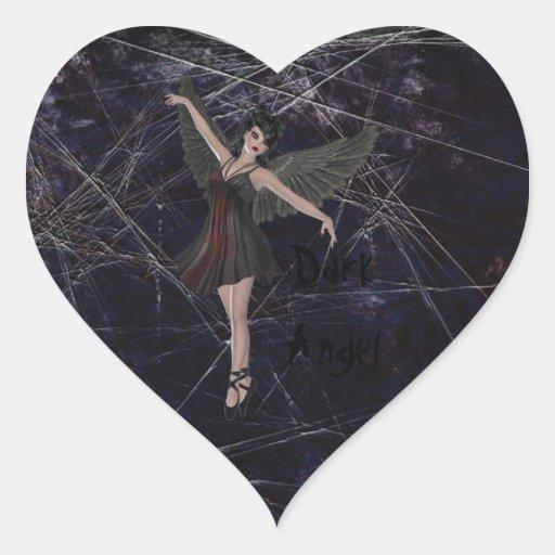Dark Angel Gothic Heart Stickers