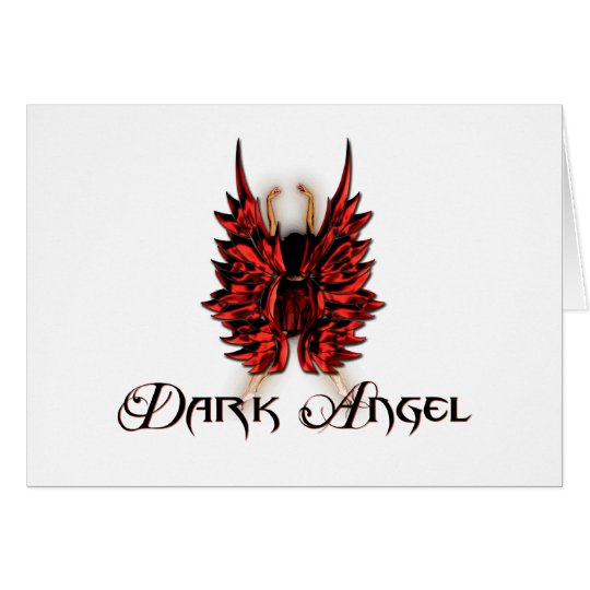 Dark Angel in Red and Black Card