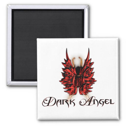 Dark Angel in Red and Black Magnet