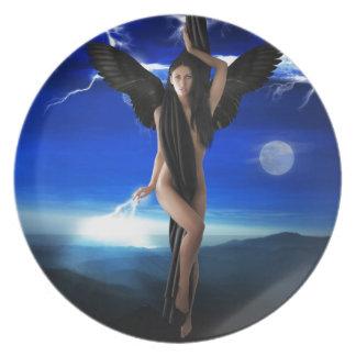 dark angel party plate