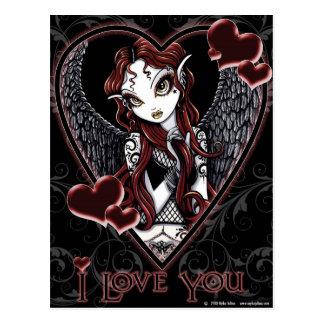 Dark Angel Valentine Postcard