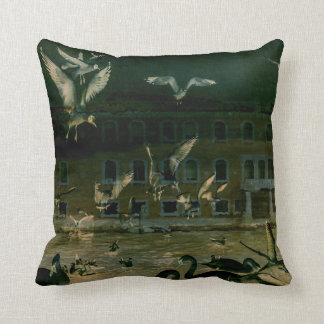 Dark Angels Throw Pillow