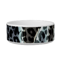 Dark animal print texture of leopard bowl