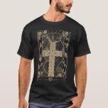 Dark Antique Celtic Serpent Cross shirt (adjusted)