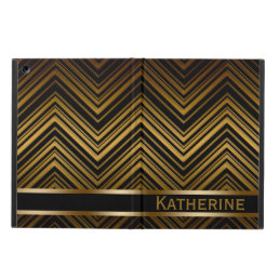 Dark Antique Gold Chevron Pattern iPad Air Case