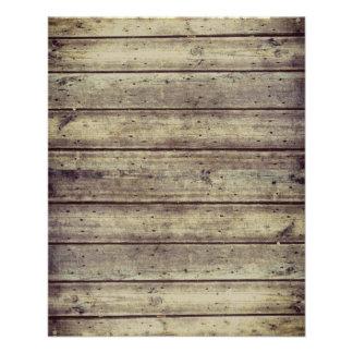 "Dark Antiqued Planked Wood Scrapbook Paper 4.5"" X 5.6"" Flyer"