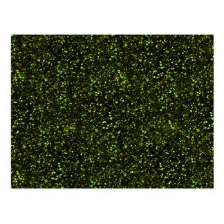 Dark Apple Green Glitter Postcard