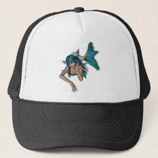 Dark Aqua Blue 3D Mermaid Trucker Hat