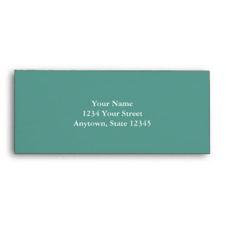 Dark Aqua Long Envelope with Custom Address