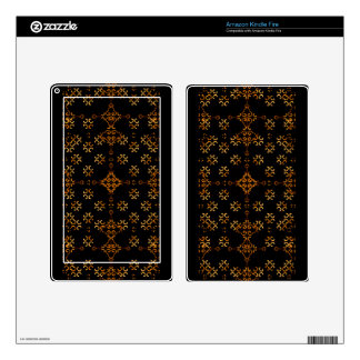 Dark Arabic Ornate Decals For Kindle Fire
