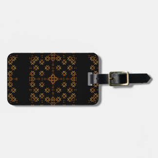 Dark Arabic Ornate Luggage Tag