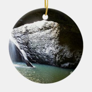 Dark Arch Waterfall Ceramic Ornament
