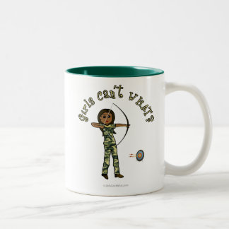 Dark Archery in Camouflage Two-Tone Coffee Mug