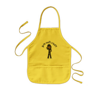 Dark Army Woman Kids' Apron