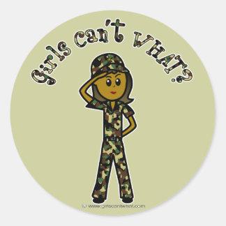 Dark Army Woman Stickers