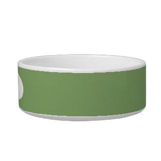 Dark Asparagus Pet Water Bowls