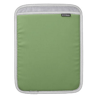 Dark Asparagus Solid Color Sleeve For iPads