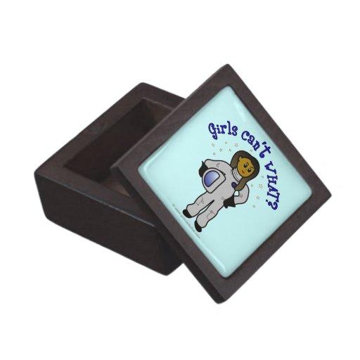 Dark Astronaut Girl Premium Keepsake Boxes